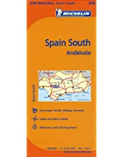 Michelin Spain: South, Andalucia / Espagne: Sud, Andalousie Map 578