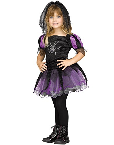 Fun World Toddler Girls' Spider Queen Witch Halloween Costume, Multi, Small