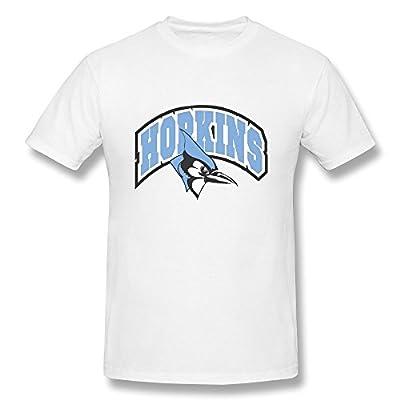 Guy Style Ring Spun Cotton NCAA Hopkins Blue Jays Logo T Shirts