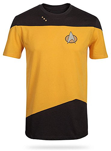 Star Trek Next Generation Costume Shirt (Star Trek The Next Generation Mens Yellow Costume T-Shirt | L)
