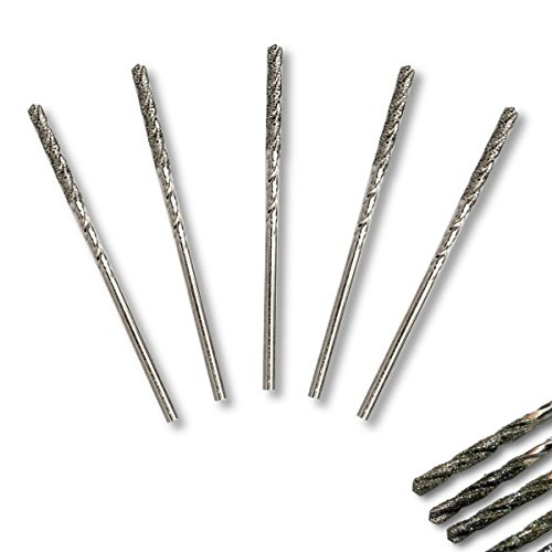 5pcs Set of Metric 1.5 mm diameter GRIT 150 Diamond Coated M35 Twist Drills Bits For SOFT METALS