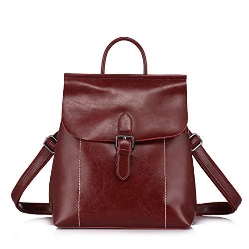 d'école de capacité en fendues Red de les dames sacs sac cuir Les dos mode met Wine en sacs adolescentes les de grande w48vq1ZTx