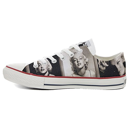 Slim Coutume Monroe Make Your Converse Shoes Customized artisanal Marilyn produit Chaussures gFX8g