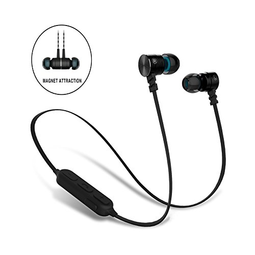 bluetooth earbuds sweatproof magnet attraction v4 0 wireless bluetooth haedphones sport. Black Bedroom Furniture Sets. Home Design Ideas