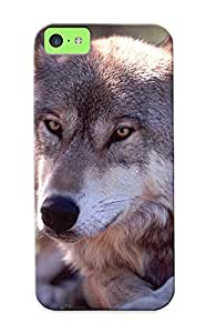 Defender Case For Iphone 5c, Resting Wolf Pattern, Nice Case For Lover's Gift