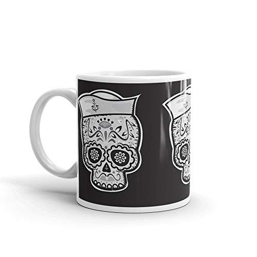 Marinero muerto sugar skull Mug 11 Oz White Ceramic]()