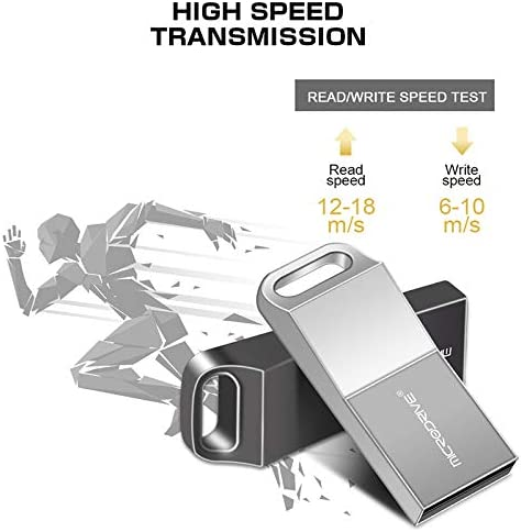 HJL USB 2.0 Flash Drive Metal Memory Stick Waterproof Portable Memory Stick with Keychain Design for iOS//Mac//PC