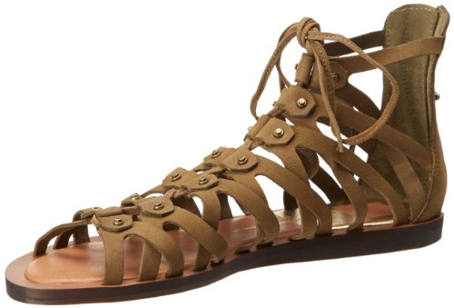 Dolce Vita Women's Fray Gladiator Sandal,Moss Nubuck,10 M US