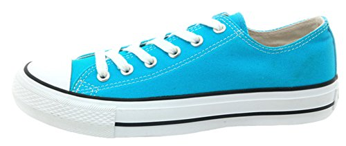 Difyou Womens Comfy Lace-up Casual Canvas Shoes For Couples Light Blue I4N8Egfi