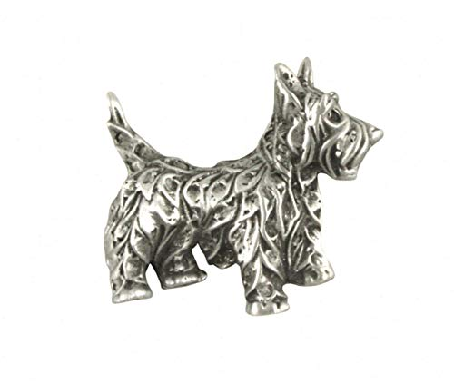 AE Williams Stunning Pewter Terrier Dog Lapel Pin Badge