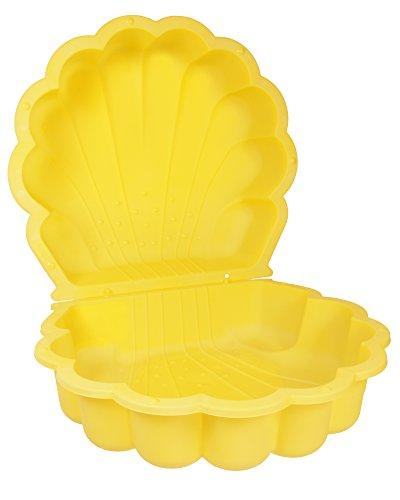 Sandmuschel Wassermuschel gelb 78 x 87 x 20 cm Sandkasten Planschbecken 2-teilig