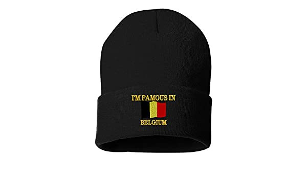 HAPPILY MARRIED TO A BELGIAN Custom Personalized Embroidery Embroidered Beanie