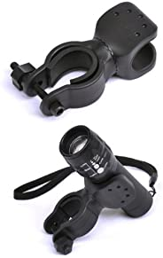 Leegoal Bicycle Bike Flashlight LED Torch Mount Holder 360° rotation Cycling Clip Clamp