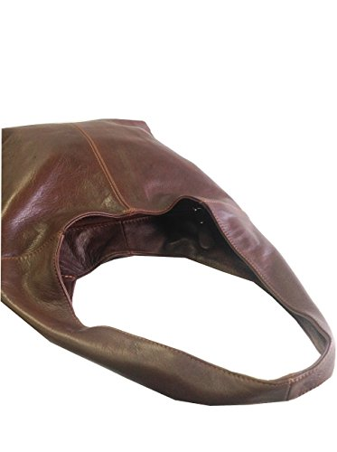 Italian Shoulder Leather Handbag Bag Soft Slouch Or Brown Zxq4wada