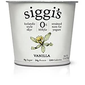 Siggis Skyr Vanilla Icelandic Style Yogurt, 5.3 Ounce -- 12 per case.