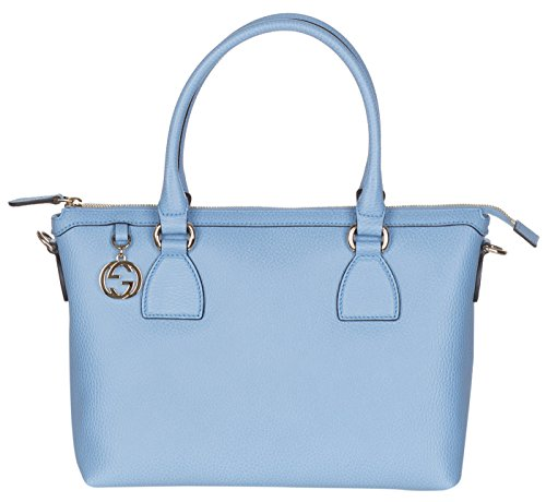 Gucci Mineral Blue Calf Leather GG Pendant Hobo Shoulder - Women Gucci Sale