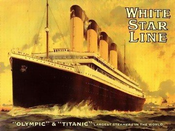Olympic and Titanic Horizontal - Poster