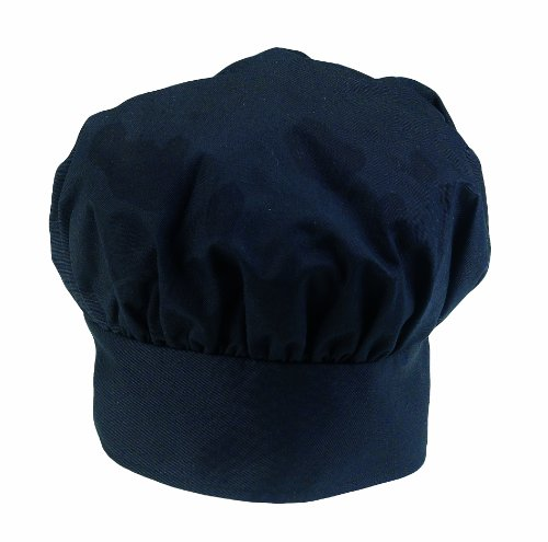 (Ritz Pro Series Adjustable Black Chef's Hat, One Size Fits All)