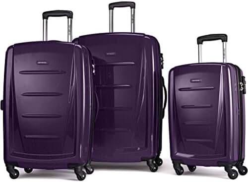 Samsonite Luggage Winfield 2 Fashion HS 3 Piece Set (One Size, Deep Purple)