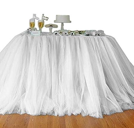 DSstyles 100cm X 80cm Mantel de Mesa de Tul Falda Cubierta de Mesa ...