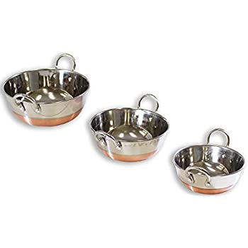 Amazon Com 3 Piece Stainless Steel Copper Bottom Wok Set