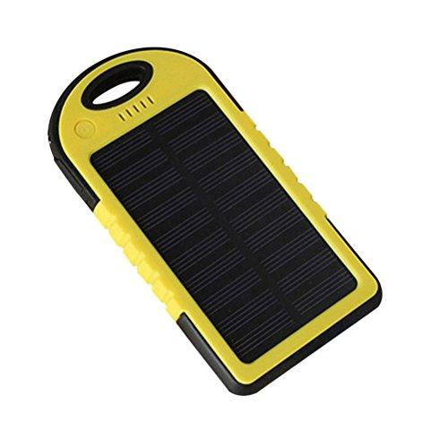 Waterproof 50000mAh USB Solar Charger Power Bank (Blue/Black) - 4