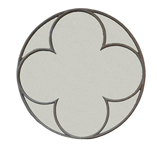 Carolina Chair and Table Henley Round Quatrefoil Mirror, Aged Iron (Quatrefoil Mirror)