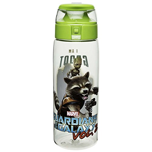Zak! Designs Tritan Water Bottle with Flip Top Cap, Guardians of the Galaxy 2, BPA-Free and Break Resistant Plastic, 25 oz.