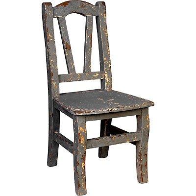 Youth Kid-Size Wood Chair Gray 12.5 inchx25.5 inch