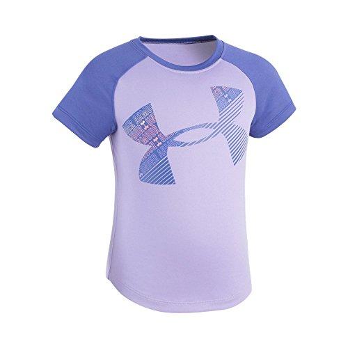 Price comparison product image Under Armour Little Girls' Wordmark Logo Short Sleeve Tee, Dark Lavender, 6