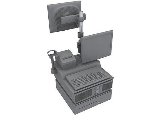 - HP QQ972AA Integration Tray - I/o tray assembly - jack black - for Point of Sale System rp5800