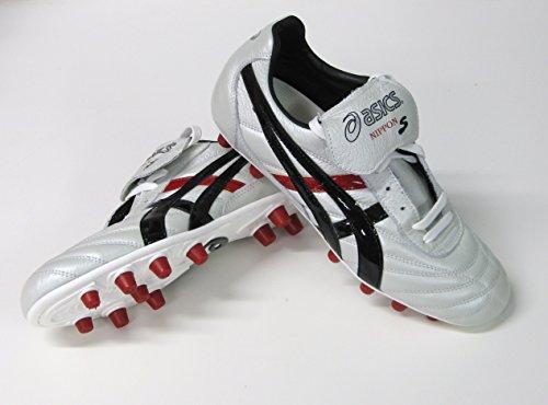 Asics Nippon S Nr (Pearl/Black) Schuh Fußball Herren (Leder/NO PVC)