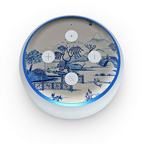 Blue Willow - Skin Sticker Decal Wrap for Amazon Echo Dot 3rd Gen