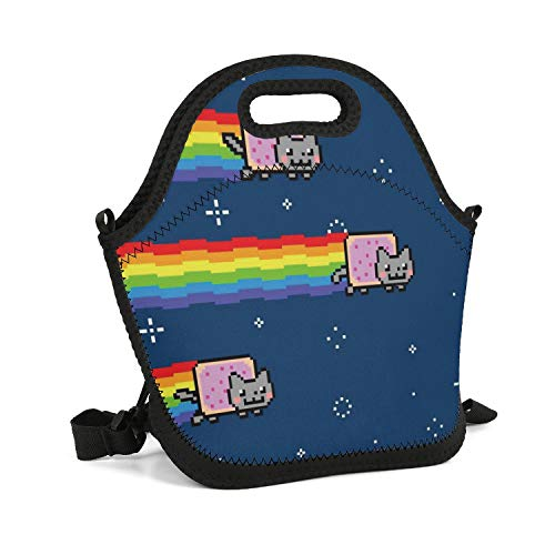 SHIWERJHC Nyan Cat-01 Neoprene Lunch Tote Breathability