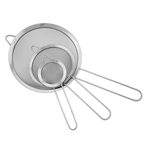Cooking Tools For Deep Frying Lard Fryer Chef Basket Top Size 2012cm Big Holes Rectangle Stainless Steel Potato Chips Dumplings Hot Oil Sieve Strainer (12cm)