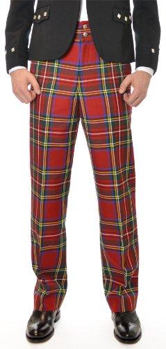 Mens Scottish Royal Stewart Tartan Trousers Size: 38R (Tartan Pants compare prices)