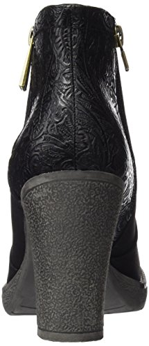 Maria Mare 2016 I Basic Calzado Señora, Chaussures à Talon avec Bout Fermé Femme Noir (Suedi Negro / Embossed Negro)