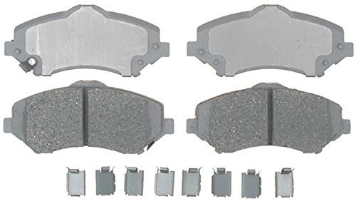 ACDelco 14D1273CH Advantage Ceramic Front Disc Brake Pad Set with (Jeep Liberty Brake Pads)