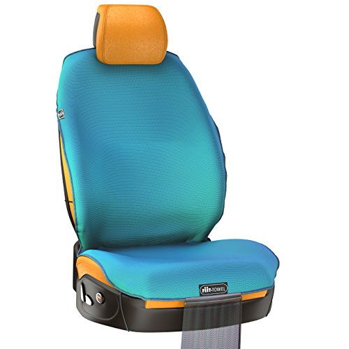 Fit-Towel Car Seat Cover. Microfiber Seat Protector, With Quick-Dry, Skidless