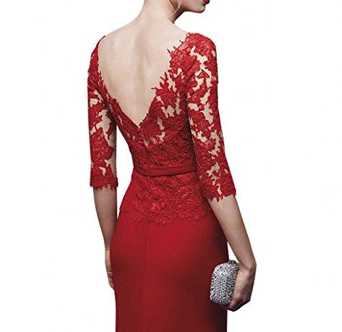 Abendkleider La Kleider Brautmutterkleider Meerjungfrau Braut Rot Rot mia Spitze Damen Jugendweihe HpRpxqwYrz