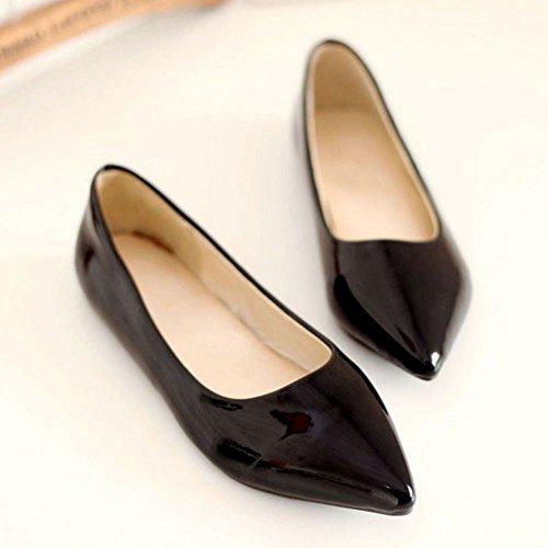 0 Negro 11 Bombas Mujer Zanpa Zapatos Sizes Basic Plano Extra Trabajo q18zvw8