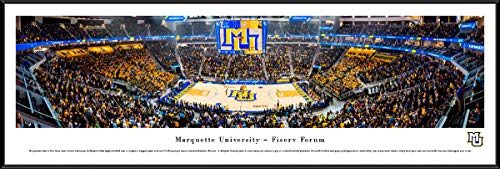 Marquette Basketball: Inaugural Game at Fiserv Forum - Standard Framed Print by Blakeway Panoramas