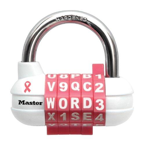 Master Lock 1534DPNK cáncer de mama investigación fundamento cerradura con contraseña, Rosa