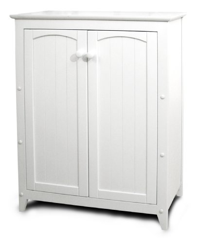 (Catskill Craftsmen Double Door Kitchen Cabinet, White)