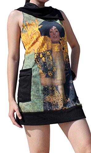Raan Pah Muang RaanPahMuang Gustav Klimt Judith Collar Fold Dress, Large