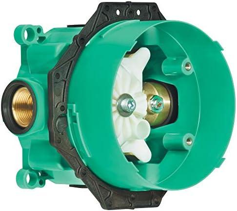 Valve Diverter in Chrome Hansgrohe Ecostat Modern 2-Handle 7-inch Wide 04231000 Thermostatic Trim Medium Temperature Memory