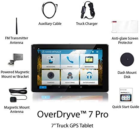 Rand Mcnally 7pro Overdryve 7 Pro Truck Navigation With 7 Display Bluetooth Siriusxm Amazon Com