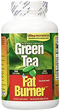 Applied Nutrition Green Tea Fat Burner with EGCG, 400mg 2 Pack 200 Count