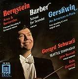 Bernstein: Arias & Barcarolles; Barber: School for Scandal Overture; Gershwin: American in Paris