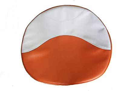R1012 Pan Seat Cushion Cover Orange and White for Allis Chalmers Tractor 21 Inches Wide Made in the USA